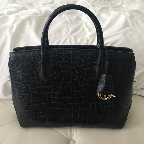 Crocodile Dior Bar Bag in pristine condition